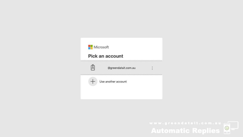 Log into your Microsoft 365 Business account