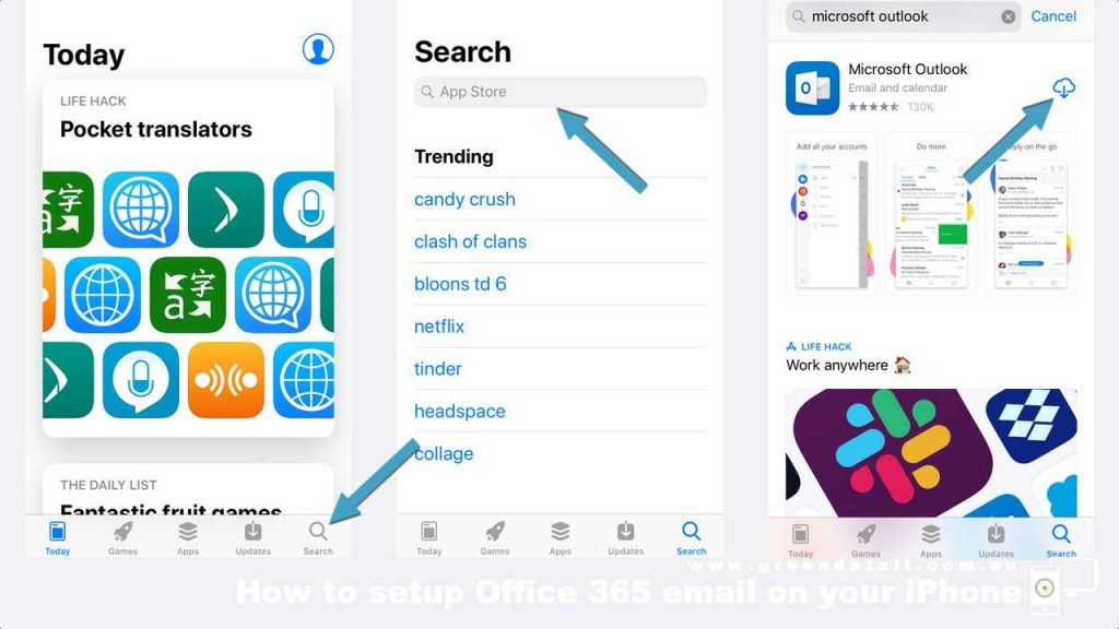 Find the Microsoft Outlook App in the App Store iPhone