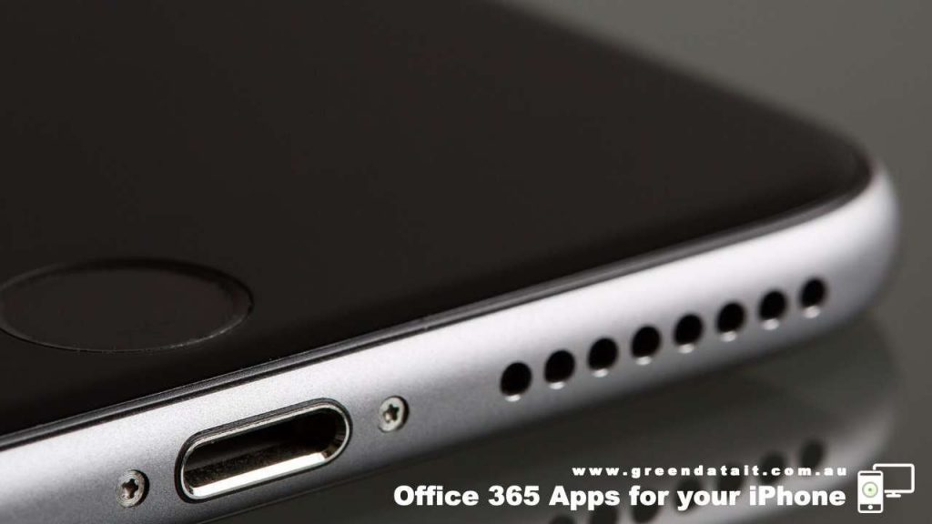 What Office 365 Apps are available for the iPhone on the Gold Coast Queensland