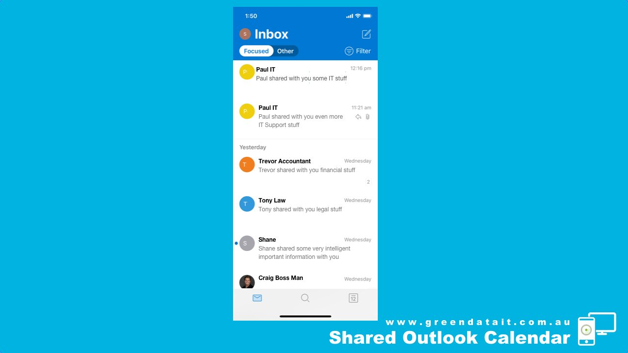 First open the Outlook App on your iPhone