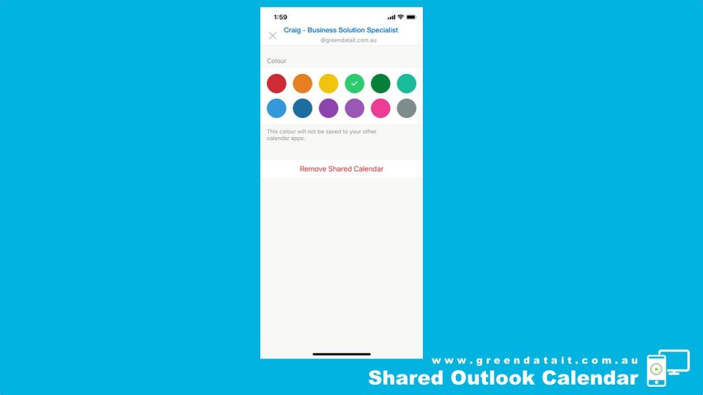 Remove a person from Shared Outlook Calendar on your iPhone Outlook App