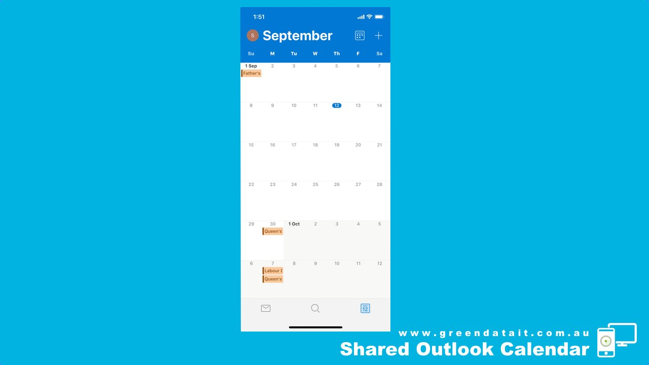 Then click the Outlook Calendar icon bottom right hand corner